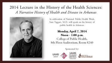 2014 Lecture in History of Health Sciences. Dr. Taggart