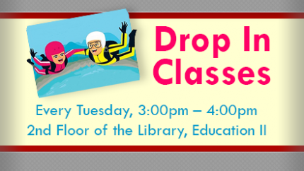 Drop-In for a Library Class Tuesdays 3-4pm