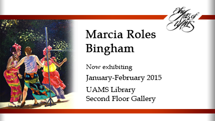 Bingham Exhibits in Library's Arts of UAMS